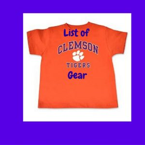 List of Clemson Tigers Gear