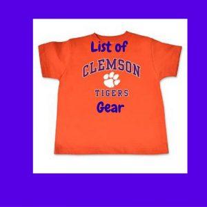 List of Clemson Tigers Gear