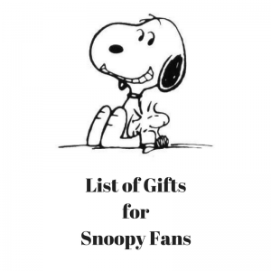 List of Giftsfor Snoopy Fans