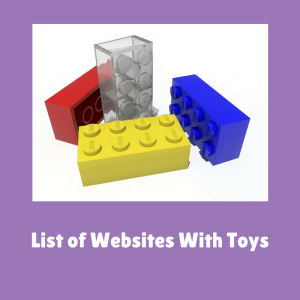 List of Websites With Toys