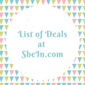 List of Deals at SheIn.com