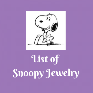 List of Snoopy Jewelry