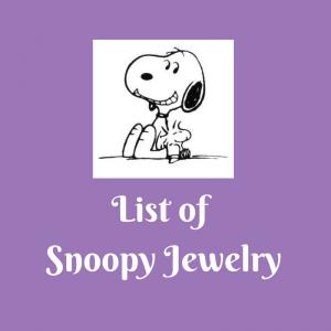 List of Snoopy Jewelry