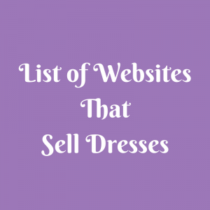 List of Websites That Sell Dresses