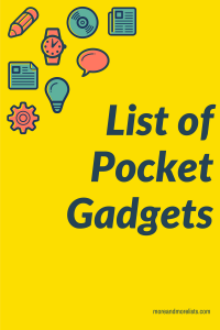 List of Pocket Gadgets
