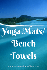 List of Yoga Mats Beach Towels
