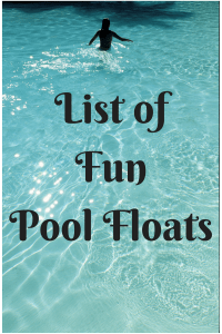 List of Fun Pool Floats