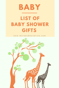 List of Baby Shower Gifts