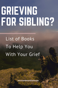 List of Books for Grieving Siblings