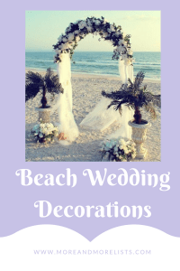 List of Beach Wedding Decorations
