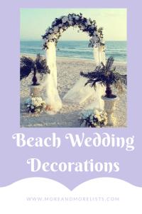 List of Beach Wedding Decorations