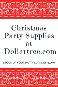 List of Christmas Party Supplies at Dollartree.com