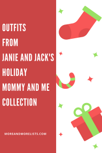 List of Outfits from JANIE AND JACK'S Holiday Mommy and Me Collection