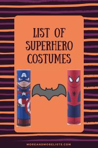 List of Superhero Costumes
