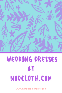 List of Wedding Dresses at Modcloth.com