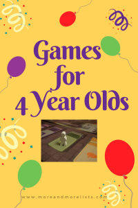 List of Games for 4 Year Olds