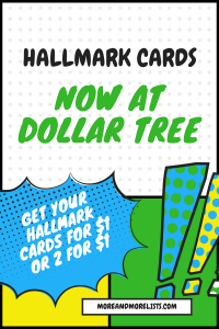List of Hallmark Cards Now at Dollar Tree