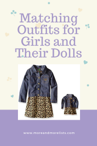 List of Matching Outfits for Girls and Their Dolls