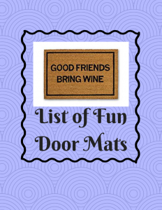List of Fun Door Mats