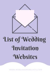 List of Wedding Invitation Websites