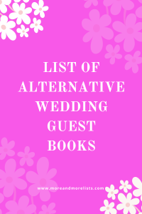 List of Alternative Wedding Guest Books