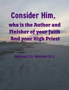Hebrews 3:1; Hebrews 12:2